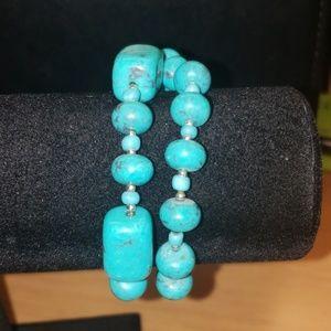 Premier Designs Turquoise Braclets.